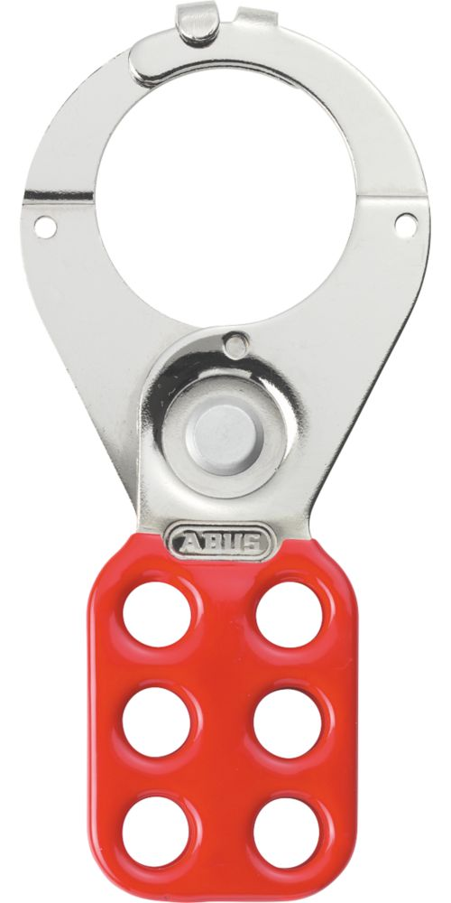 """Abus  1½"""" Red Steel Lockout Hasp"""