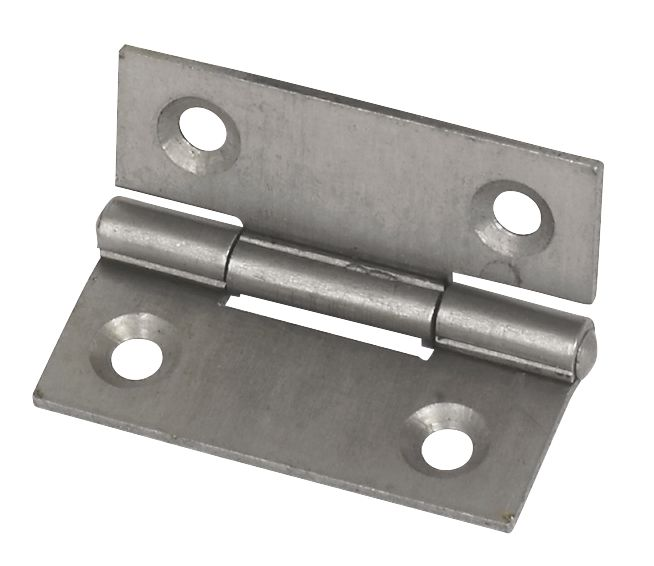 Self-Colour  Steel Fixed Pin Hinges 40 x 33mm 2 Pack