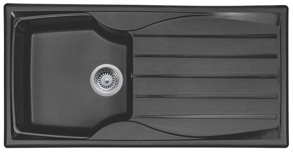 Astracast Sierra Teflite Sink Black 1 Bowl Reversible 980 x 500mm