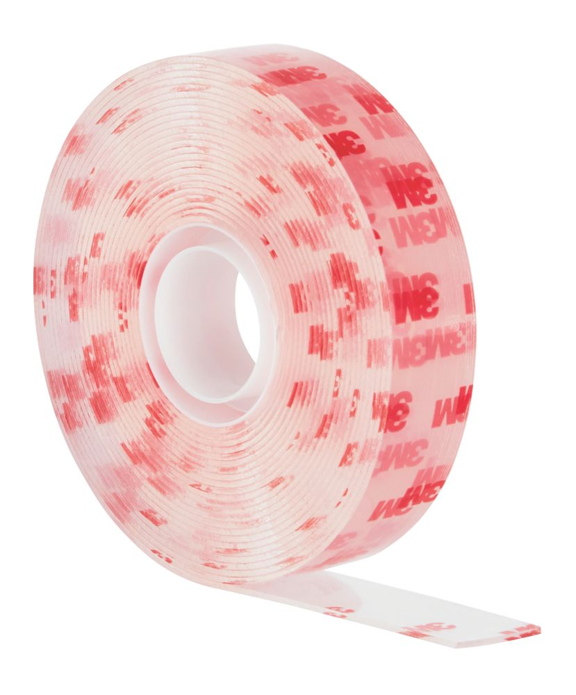 Scotch Permanent Double-Sided Acrylic Mounting Tape Transparent 5m x 19mm