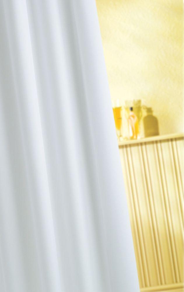 Croydex Vinyl Shower Curtain White 1800 x 1800mm