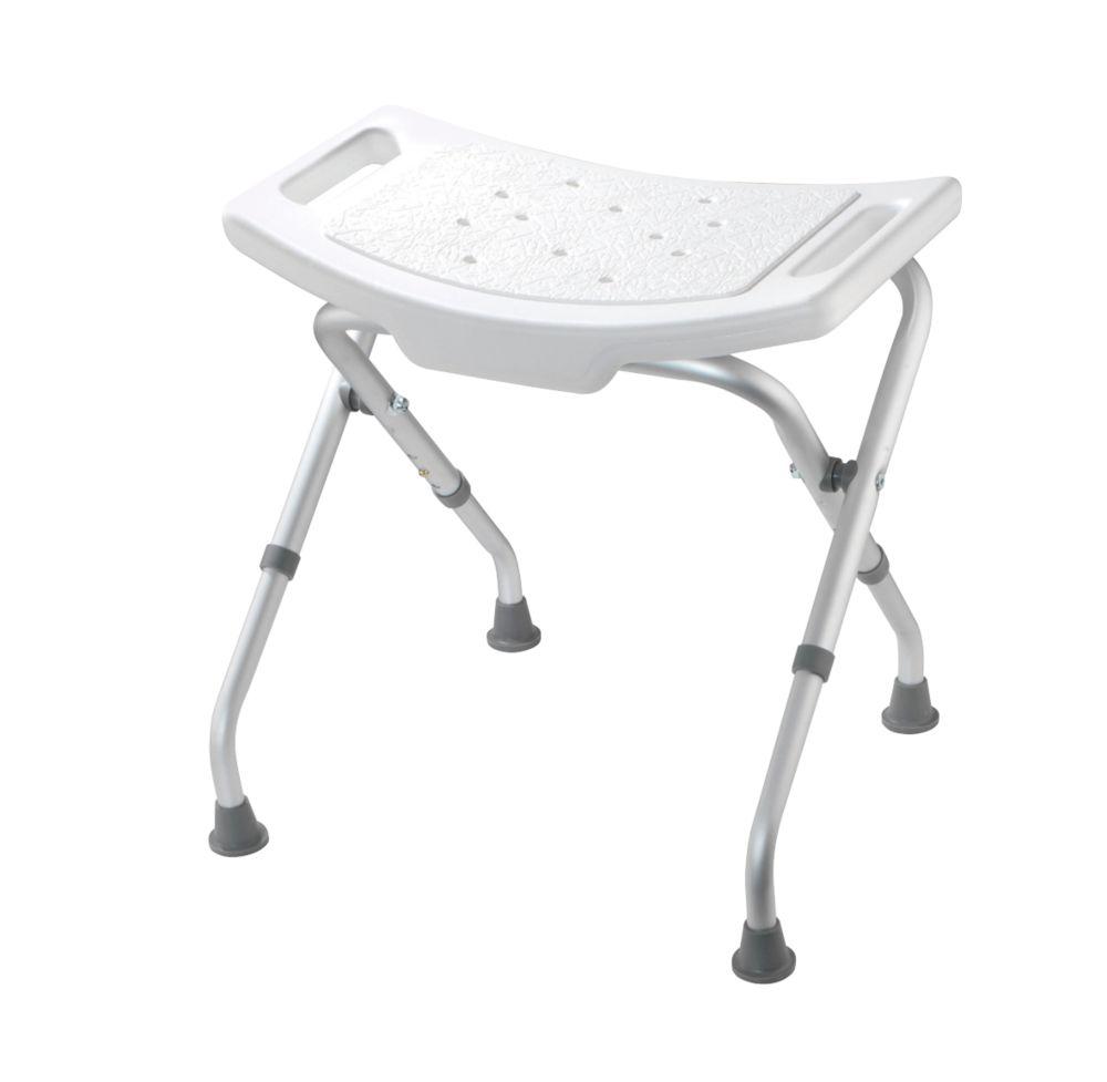 Croydex Freestanding Adjustable Shower Seat White
