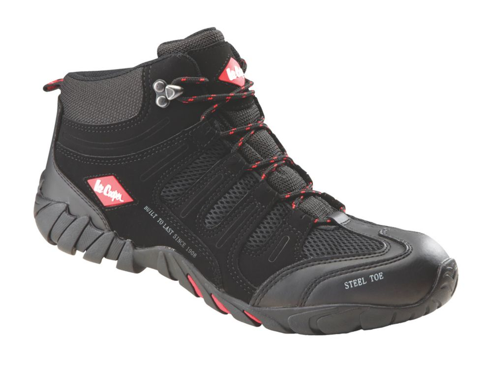 Lee Cooper LCSHOE020C   Safety Trainer Boots Black / Grey Size 10