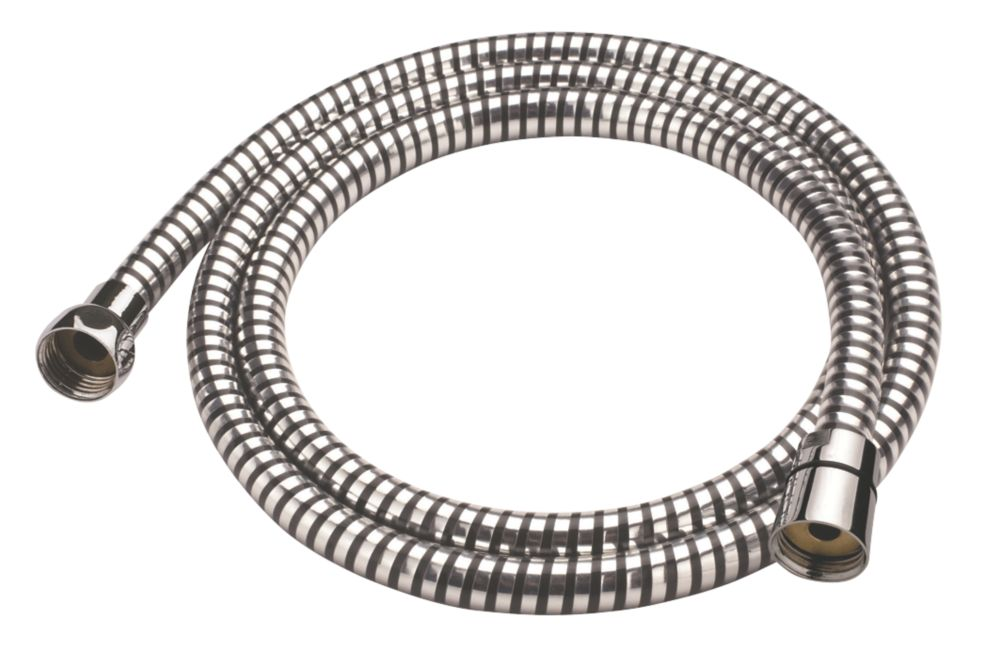 Cooke & Lewis PVC Shower Hose Chrome / Black 7.5mm x 1.5m
