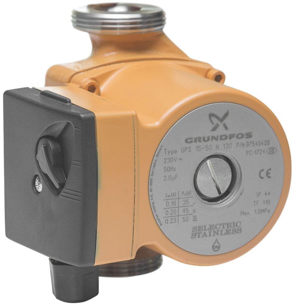 Grundfos UPS 15-50N Traditional Secondary Hot Water Circulator 230V
