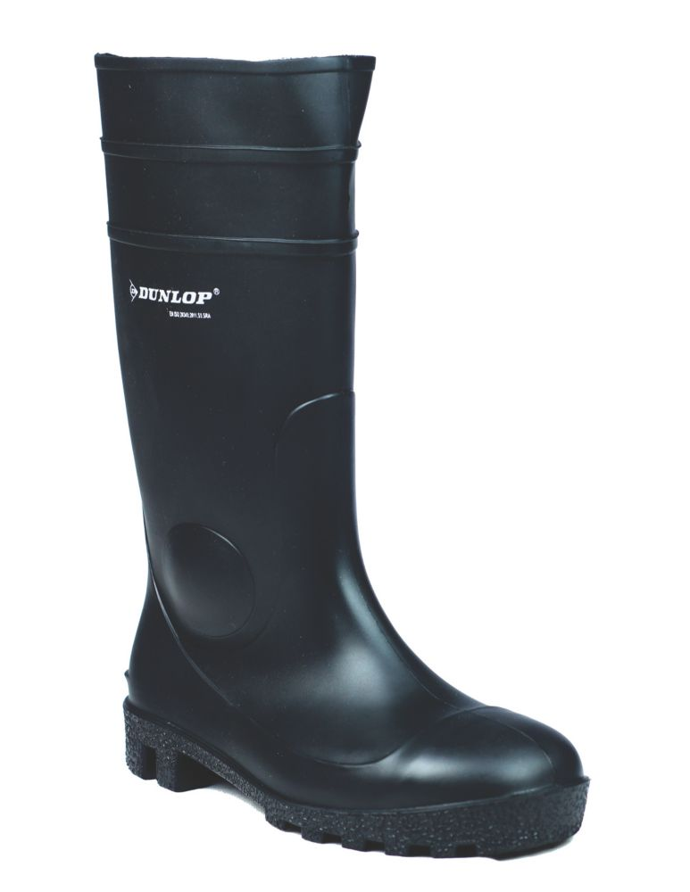 Dunlop Protomastor 142PP   Safety Wellies Black Size 9