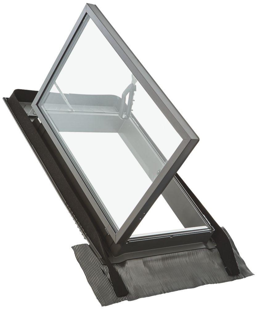 Manual Top-Hung Lacquered Natural Pine  Skylight Clear 450 x 600mm