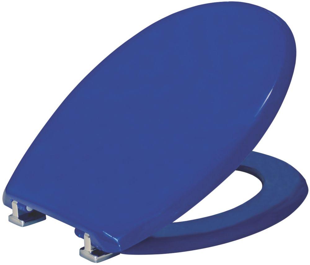 Carrara & Matta Atlantic Spa Standard Closing Toilet Seat Thermoplastic Blue
