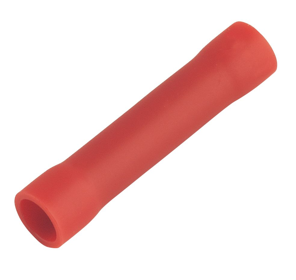 Insulated Red 0.5-1.5mm² Crimp Butt 100 Pack