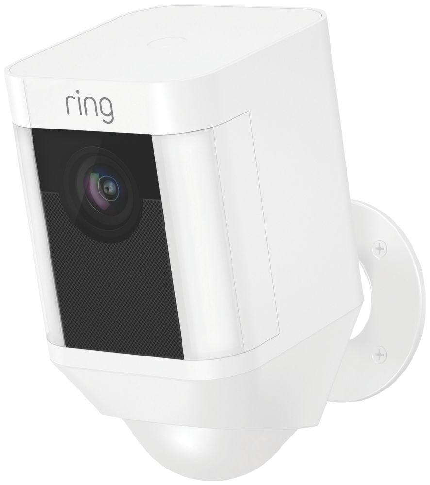 Ring Spotlight Battery-Powered Camera PIR White