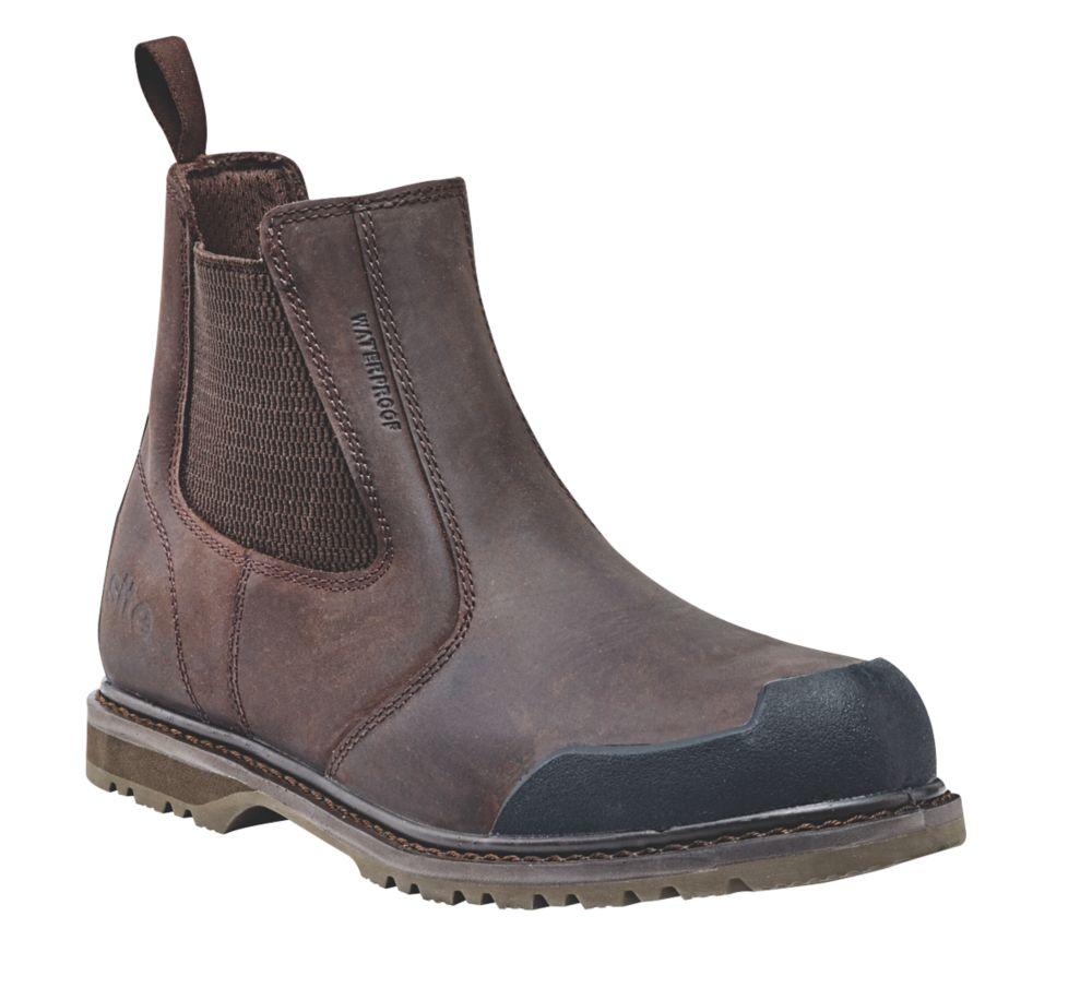 Site Prairie   Safety Dealer Boots Brown Size 11