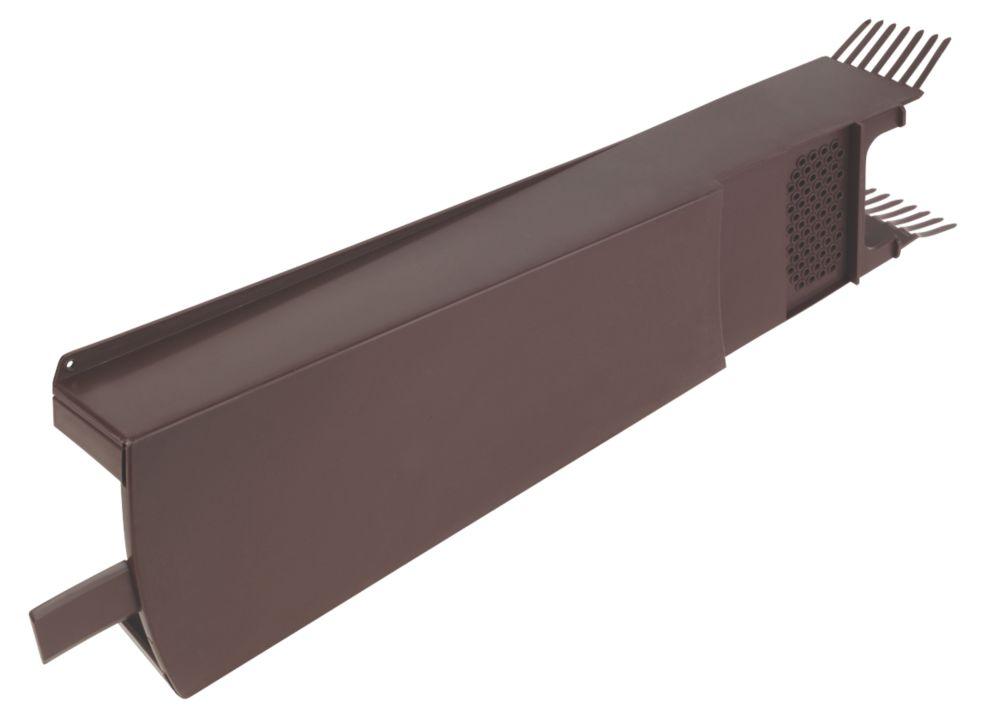 Glidevale Brown Universal Dry Verge Tile Units 10 Pack