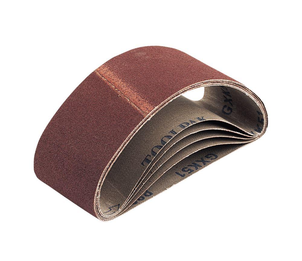 Cloth Sanding Belts Unpunched 400 x 60mm 80 Grit 5 Pack