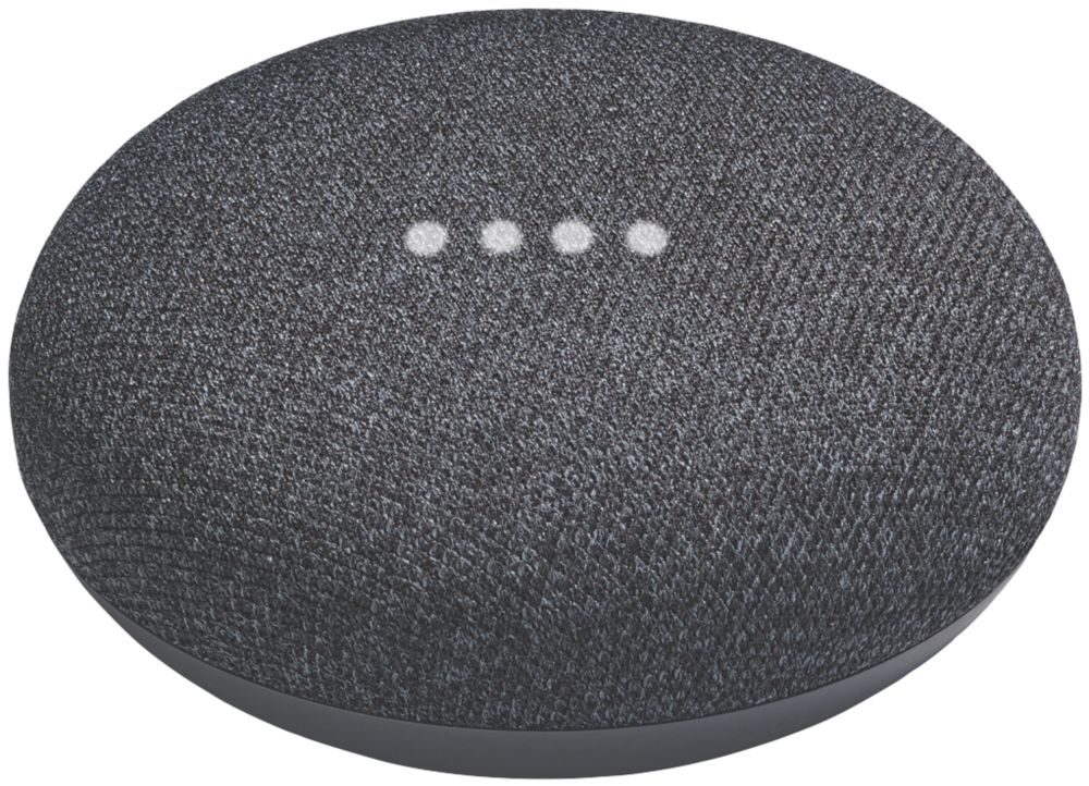 Google Home Mini Voice Assistant Charcoal