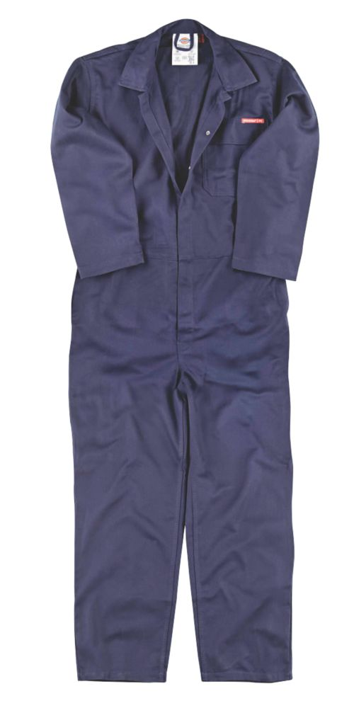 """Dickies FR24/7 Flame Retardant Coverall Navy XX Large 54"""" Chest 31"""" L"""