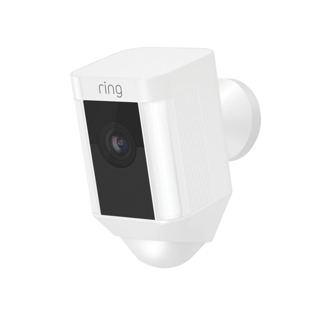 Ring Spotlight Wired Camera PIR White
