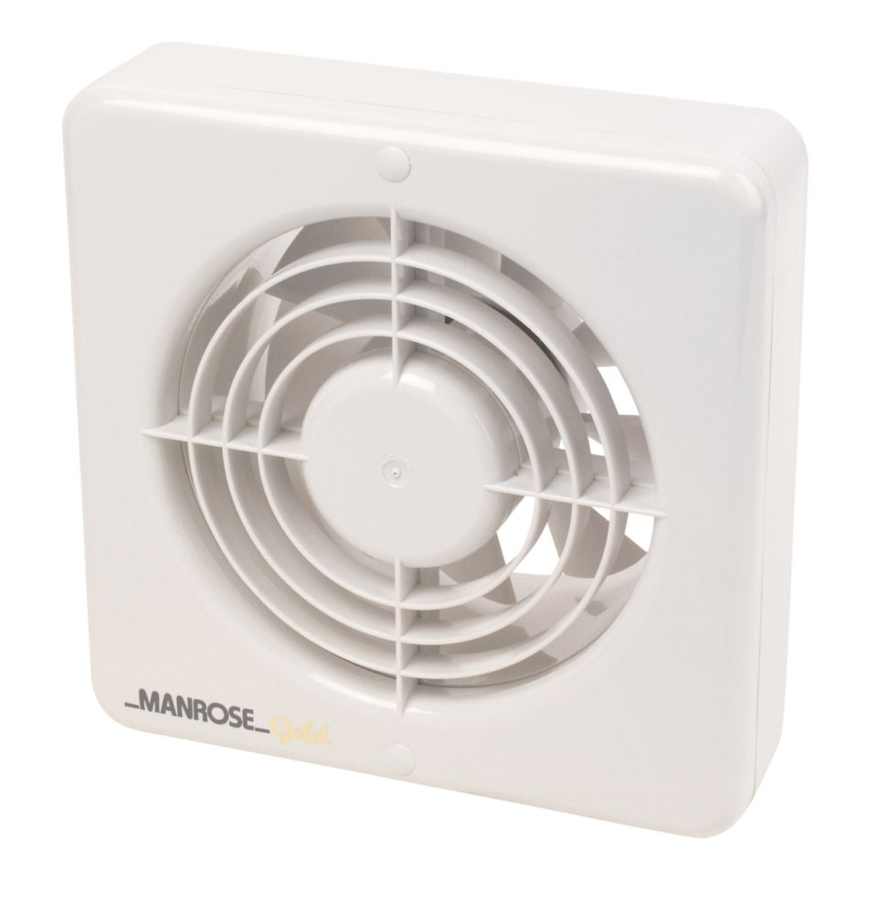Manrose MG150BT 25W Kitchen Extractor Fan with Timer White 240V