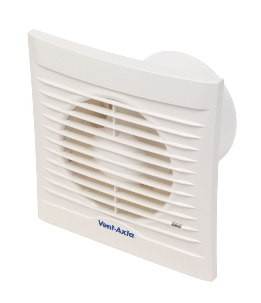Vent-Axia 100T 15W Bathroom Extractor Fan with Timer White 240V