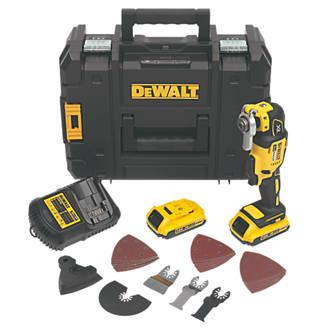 DeWalt DCS355D2-GB 18V 2.0Ah Li-Ion XR Brushless Cordless Multi-Tool