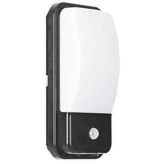 Enlite UtiliteX Rectangular LED Security Bulkhead With PIR Sensor Black 10W