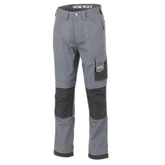 """JCB Rip-Stop Trousers Black / Graphite 28"""" W 29"""" L"""