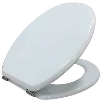 Cooke & Lewis  Standard Closing Toilet Seat Moulded Wood White