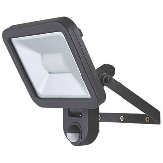 LAP  LED PIR Floodlight Black 20W Daylight