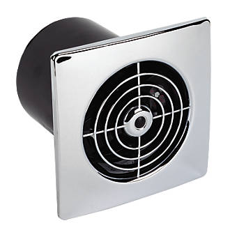 Manrose LP100ST 15W Bathroom Extractor Fan with Timer Chrome 240V