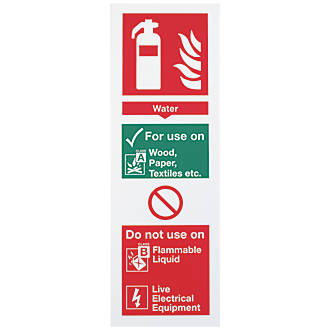 Water Extinguisher Sign 300 x 100mm