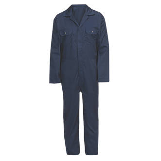 """General Purpose Coverall Navy Blue Medium 48¾"""" Chest 31"""" L"""