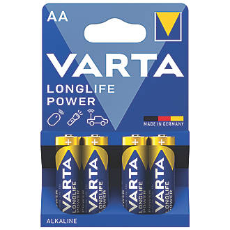 Varta Longlife Power AA High Energy Batteries 4 Pack
