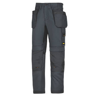 """Snickers AllRoundWork Everyday Work Trousers Steel Grey 41"""" W 32"""" L"""