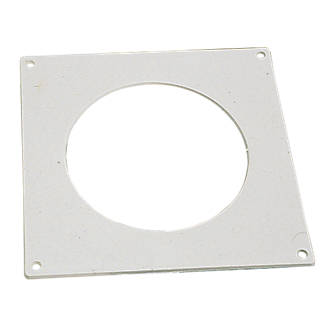 Manrose Round Pipe Wall Plate White 100mm