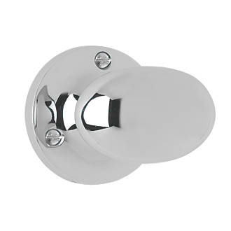 Smith & Locke Oval Mortice Knobs Pair Polished Chrome 55mm