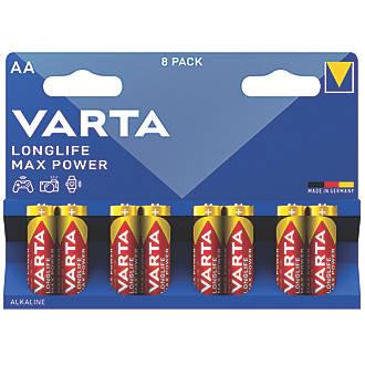 Varta Longlife Max Power AA Batteries 8 Pack