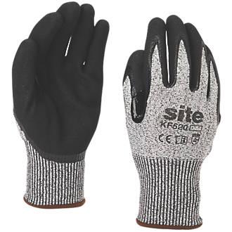 Site KF520 Gloves Grey / Black Large