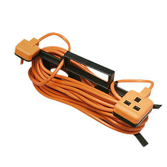 Masterplug 13A 1-Gang Unswitched  Extension Lead 15m
