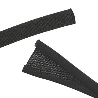 Label the Cable Cable Cover Black 2m