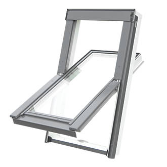 Tyrem  C2A Manual Centre-Pivot White uPVC  uPVC Roof Window Clear 550 x 780mm