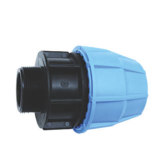 "FloPlast 492202 MDPE Male Adaptor 25mm x ¾"""