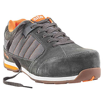 Site Strata   Safety Trainers Grey Size 10