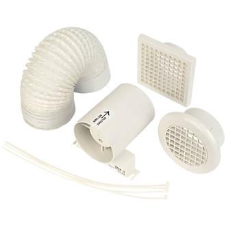 Manrose In-Line Shower Fan Kit White