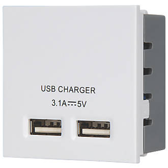 LAP USB Charger Grid Module White