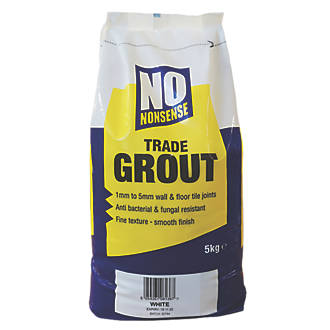 No Nonsense  Wall & Floor No Mould Grout White 5kg