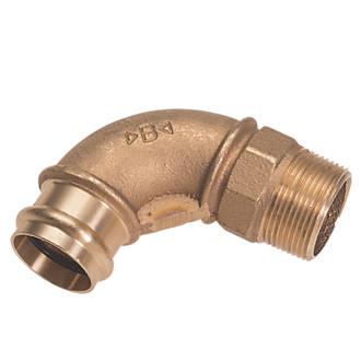 "Conex Banninger B Press  Copper Press-Fit Adapting 90° Male Elbow 15mm x ½"" 10 Pack"
