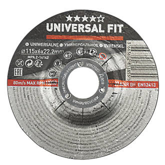 "Metal Grinding Disc 4½"" (115mm) x 6 x 22.2mm"