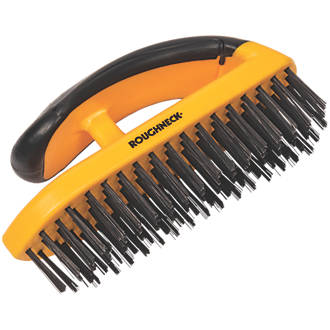 Roughneck Soft-Grip Block Wire Brush With Handle