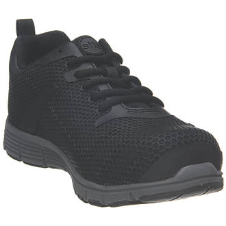Site Donard   Safety Trainers Black Size 7