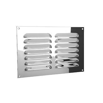 Xpelair Gas Louvre Vent Stainless Steel 189 x 126mm