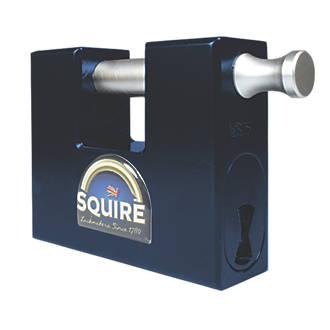 Squire Hi Security Hardened Steel  Weatherproof  Container Padlock 80mm